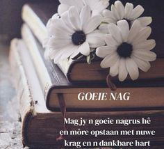Afrikaanse Quotes, Good Night Blessings, Goeie Nag, Good Night Greetings, Blessed, Messages, English, Pictures, Flowers