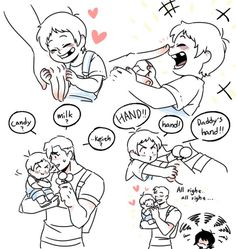 Lance And Hunk Drinking Juice