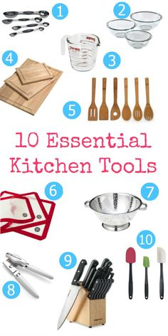 10 Essential Kitchen Tools That Everyone Should Have - Have you ever thought of what are the essential tools that everyone should have in their kitchen? Are you just starting off and building your collection or getting married and trying to build your registry – not sure which items you should have?
