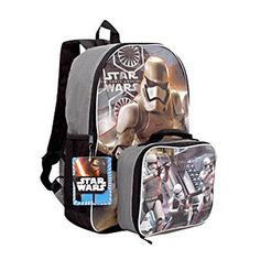 School Backpack Boys Star Wars The Force Awakens 16 Inch W/ Detachable Lunch Kit for sale online Star Wars Gifts, Star Wars Toys, Boys Backpacks, School Backpacks, Star Wars Rucksack, Star Wars Design, Disney Star Wars, Star Wars Episodes, Stars