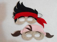 This listing is for 1 Jake Mask and 1 sidekick mask of choice. Izzy or Cubby    ARRRG! Jake the Neverland Pirate is here with his crew! Grab this
