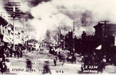 FIRE CRIPPLE CREEK, CO 1896 RP