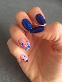 #nails #manicure #bluenails #confettinails