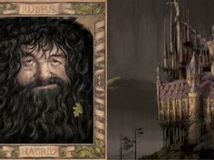 Hagrid and Hogwarts Chamber of Secrets Jim Kay ilustrovaná edícia tajomná komnata harry potter Harry Potter Jim Kay, Harry Potter Book Covers, Harry Potter Stories, Harry Potter World, Hogwarts, Daniel Radcliffe, Harry Potter Ilustraciones, Rubeus Hagrid, Dark Wizard