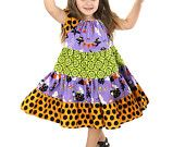 LOVE THESE TWIRL DRESSES Halloween Knot Dress. $35.00, via Etsy.