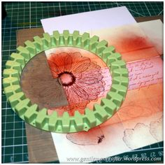 handmade notecard set: Simple Single Layer Stamping With Inkadinkado Stamping Gear . luv the artistic look . Spirograph Art, Card Making Supplies, Card Making Techniques, Paper Cards, Creative Cards, Note Cards, Making Ideas, Cardmaking, Gears