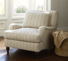 stripes & comfy - Carlisle Upholstered Armchair | Pottery Barn