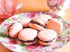 Pink Macarons with Chocolate Ganache