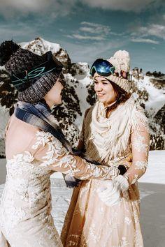 Winter LGBT elopement in the Alps Snow Wedding, Elope Wedding, Wedding Shoot, Dream Wedding, Snowboard Wedding, Ski And Snowboard, Winter Wedding Inspiration, Elopement Inspiration, Wedding Planning Guide