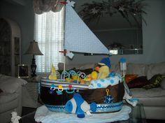 The Titanic! Boat / Ship diaper cake creation