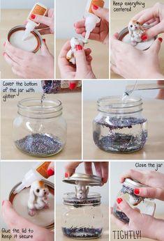 Easy Homemade DIY Glitter Globe
