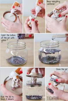 Easy Homemade DIY Glitter Globe