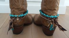 Bootbelt Turkoois/brons