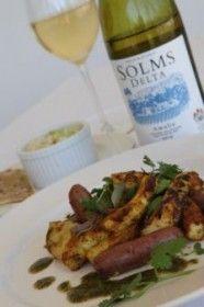 Grilled Curried Calamari & Spicy Peri-Peri Sausages