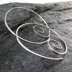 Septum-Cartilage-Earrings-Gold-Silver-Niobium-Titanium by CecileStewartJewelry Sterling Silver Hoops, Silver Hoop Earrings, Dangle Earrings, Wire Jewelry, Jewelery, Jewelry Crafts, Jewelry Ideas, Ear Studs, Handmade Silver