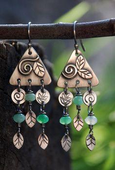 Rain forest Mist Earrings