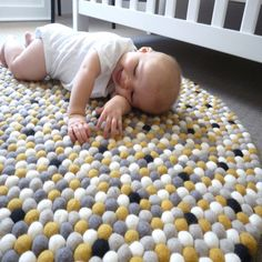You are my Sunshine Felt Ball Rug - I love to learn how to make these rugs!