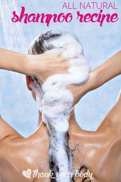 •½ C distilled water •⅓ C liquid castile soap •1 tsp jojoba or almond oil •1 tsp vegetable glycerin (optional, give the shampoo a little…