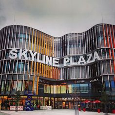 "See 424 photos and 91 tips from 7031 visitors to Skyline Plaza. ""Nice, modern shoppingcenter next to the fairgrounds. Foodcourt is massive (incl. Frankfurt, Tv Spielfilm, Maine, Times Square, Germany, Fair Grounds, Skyline, Facades, Travel"
