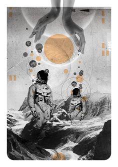 Icy Moon - Europa by Kacper Kiec