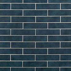 La Belle Antique Blue Polished Ceramic Tile - 3 x 12 - 100507706 Blue Glass Tile, Blue Tiles, Polished Porcelain Tiles, Software, Tiles Texture, Ceramic Wall Tiles, Style Tile, Floor Decor, Decoration