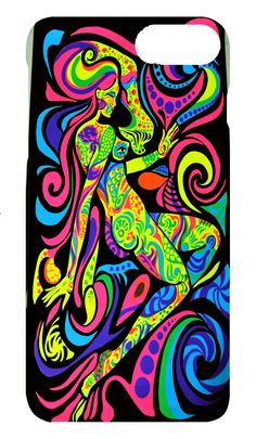 Astral Lady Case.Moondazzlecases.com has NEW HD 3D sublimation inks can produce cases that glow in black light.This is one of our customers new favorites!