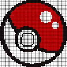Ball Pokemon Perler Bead Pattern