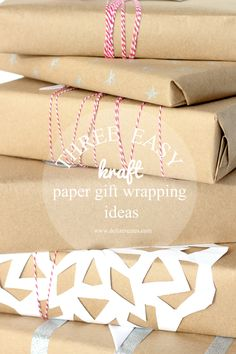 Three easy ways to dress up kraft wrapping paper with copy paper!  // Delia Creates #gapxdarbysmart #sponsored