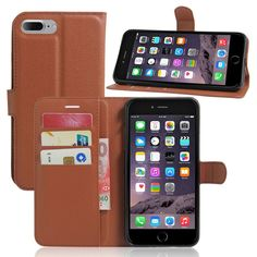 Luxury Leather Wallet Case Cover For IPhone 7 Plus