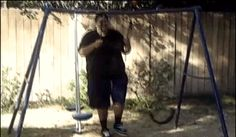 He broke the entire swing set - funny ghetto pictures, funny pictures, ratchet pictures