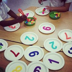 My kiddos love this rainy day activity! Great for both fine motor and number recognition....and it's budget friendly! Felt numbers from the @target dollarspot. Plates from Dollar Tree. #prekpeeps #finemotor #prek #preschool #iteachprek #rainyday