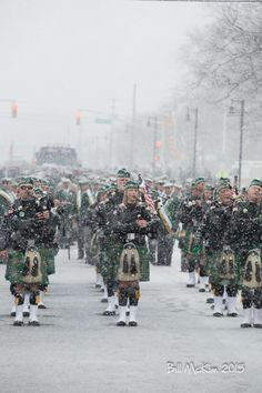 Belmar Parade Day photos 2015 snow blankets St. Patrick's Parade participants - Belmar Days NJ
