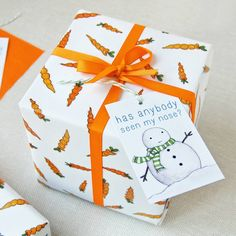 Christmas Carrot Wrapping Paper Set from notonthehighstreet.com