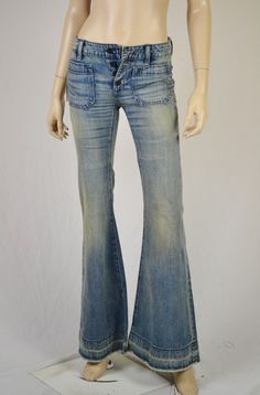 New Ralph Lauren Denim & Supply 27 X 34 Flare Distressed Jeans 125.00 Nwt - Jeans