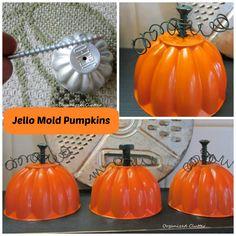 Jello Mold Junk Pumpkin Tutorial