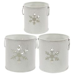 A&B Home Snowflake Holiday Candle Holder - 3Pc/Box - Set of 2