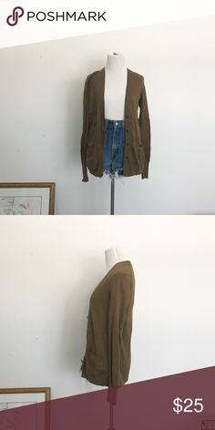 Olive Green Cardigan Oversized Cardigan from LOFT in a pretty Olive green color. LOFT Sweaters