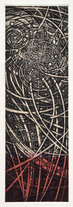 212/老子考(25)-道法自然 36.5x12.0cm etching, engraving HAYASHI Takahiko 林孝彦 2016