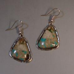 Turquoise Dangle Earrings, Navajo
