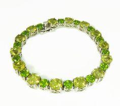 Citrine Peridot Tennis Bracelet Sterling Silver 17 ctw Spring Bling 6b6039d16437b