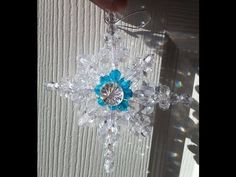 Make A Beautiful and Easy Beaded Star of Bethlehem Ornament! - YouTube