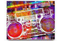 Musik-Geschenk Boombox Music Lover Kunst Musik von PoolPartyPopArt