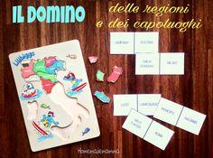 Il domino delle regioni e dei capoluoghi d'Italia