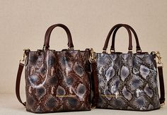 Dooney & Bourke   City Python Large Barlow   The rich look of snakeskin adds a touch of the wild to the ladylike satchels in our City Python Collection.