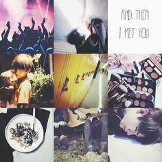 I met you #moodboard #bts #taehyung #v #bangtanboys #couple