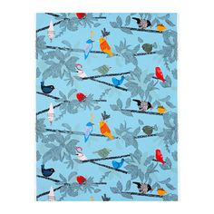 I'm not crazy about birds, but this would be a gorgeous pillow fabric. Fun and bright! $6.99/yard at IKEA