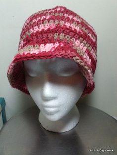 Another 1930's Teacher Cloche Hat | AllInADaysWork - Crochet on ArtFire.