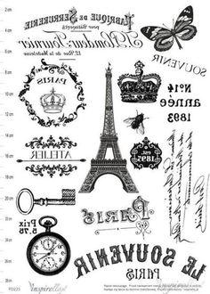 Printable Labels, Printable Art, Printables, Images Vintage, Vintage Pictures, Scrapbook Vintage, Paris Crafts, Foto Transfer, Heat Transfer