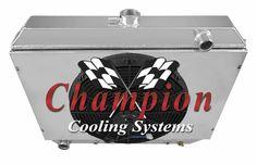 3-ROW ALUMINUM RADIATOR+SLIM FAN SHROUD FOR 1985-1996 F150//F250 SUPERDUTY MT