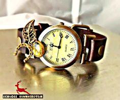 MOOS MAGIE echtes Moos Damenuhr Echtleder Unisex von Schloss Klunkerstein - Designer Schmuck Manufaktur & Armbanduhren für besondere Menschen. Naturschmuck, Geschenke, Vintage Raritäten mit Geschichte! auf DaWanda.com